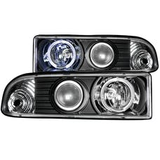 AnzoUSA 111015 Projector Headlights with Halo Black