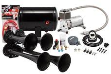 Kleinn Automotive Air Horns HK4-1 Pro Blaster™ Quad Air Horn Kit w/130 PSI Sealed Air Compressor/1.0 gal tank