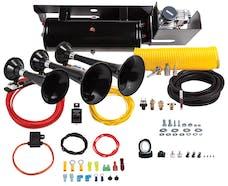 Kleinn Automotive Air Horns SDKIT-234 Bolt-on Train Horn System for 2011-2015 Ford F-250 and F-350 diesel trucks.