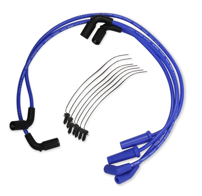 8mm Spark Plug Wire Set Accel Blue 171112-B