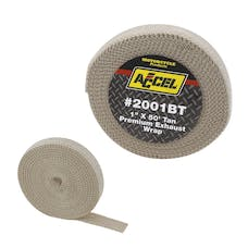 "ACCEL 2001BT Exhaust Wrap, Bulk 1""X50' Tan"