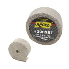 "ACCEL 2002BT Exhaust Wrap, Bulk 2""X25' Tan"