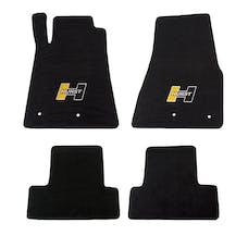 Hurst 6371020 Hurst Gold Logo (Front/Rear) Floor Mat Kit for 2010-2014 Mustang