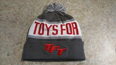 Red, White and Grey Toys For Trucks Winter Hat