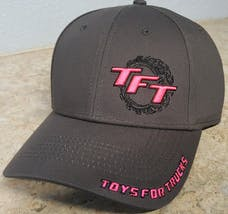 Grey and Pink Toys For Trucks Adjustable Hat
