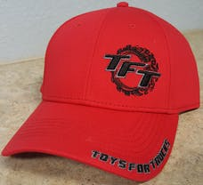 Red and Black Toys For Trucks Adjustable Hat