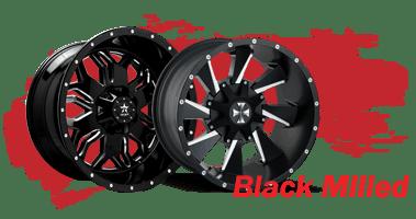 Shop Black Milled Wheels