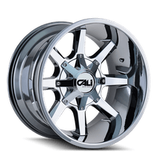 Cali Off-Road 9100-22237C Single 22x12 Chrome 6x135/6x139.7 -44 Offset Busted Wheel