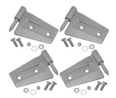 Kentrol 40575 Jeep JK Door Hinge Set 4 Pieces 2 Door 07-18 Wrangler JK Bare Grey Kentrol