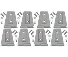 Kentrol 40576 Jeep JK Door Hinge Set 8 Pieces 4 Door 07-18 Wrangler JK Bare Grey Kentrol
