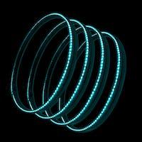 Oracle Lighting 4215-010 Aqua LED Illuminated Wheel Rings