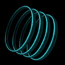 Oracle Lighting 4215-010 ORACLE LED Illuminated Wheel Rings - Aqua