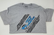 Extra Large Gray Toys For Trucks T-Shirt w/Blue Logo