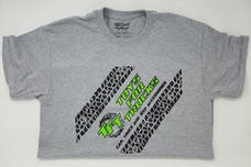 Extra Large Gray Toys For Trucks T-Shirt w/Green Logo