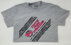 Extra Large Gray Toys For Trucks T-Shirt w/Pink Logo
