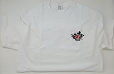 Extra Large White Toys For Trucks T-Shirt w/Logo Front & Back