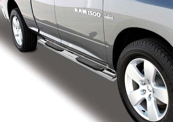 """Big Country Truck Accessories 39408066 4"""" WIDESIDER Platinum Side Bars - 80"""" Long - Polished Stainless Steel"""