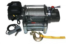 Bulldog Winch 10012 15000lb Winch, Heavy-duty, 7.2hp Series Wound, Roller Fairlead, 92ft Wire Rope