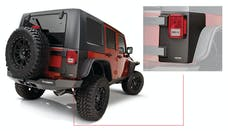 Bushwacker 14010 Jeep Trail Armor Rear Corner - Pair - OE Matte Black