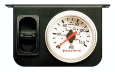 Firestone Ride-Rite 2229 Metal Single Electric White Gauge
