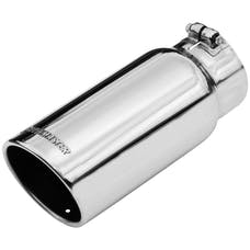 Flowmaster 15368 Exhaust Tip-5.00 in. Rolled Angle Polished SS Fits 4.00 in. Tubing-clamp on
