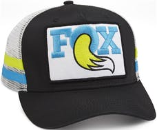 Fox Factory Inc 495-01-227 2017; FOX Throwback Trucker Hat; Black/Blue/Yellow; O/S