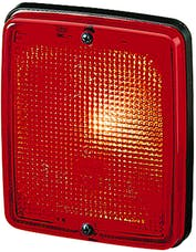 Hella Inc 003236137 3236 Red Flush Mount Stop/Tail Lamp