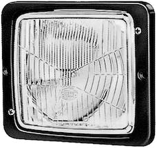 Hella Inc 004109041 138 x 124mm H4 Single Flush Mount Headlamp with Position Lamp
