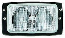 Hella Inc H15213021 Module 6213 Halogen Double Beam Flush Mount Work Lamp (CR)