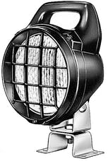 Hella Inc H15470011 Matador Halogen Work Lamp with Grille & Switch (CR) 24V