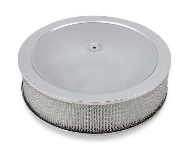 "Holley 120-4145 4150 Drop Base Air Cleaner Assembly Chrome W/4"" Paper Filter"
