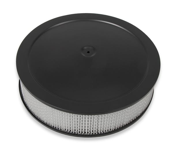 Holley 120-4235 4150 Drop-Base Air Cleaner Black W/ Paper