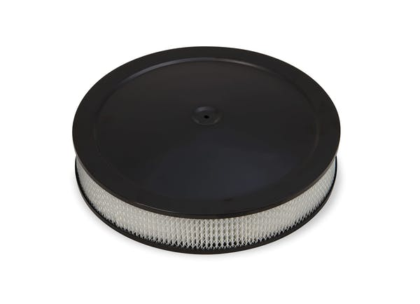 Holley 120-4635 4500 Drop-Base Air Cleaner Black W/ Paper