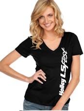 Holley 10198-MDHOL Lswest Ladies Side Logo Tee - Black