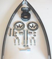 "Revtek Suspension 427A 3"" Front 1.5"" rear AAL Suspension lift - Not PRO(2 Box Kit)"