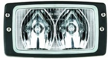Hella Inc H15213011 Module 6213 Halogen Double Beam Flush Mount Work Lamp (LR)