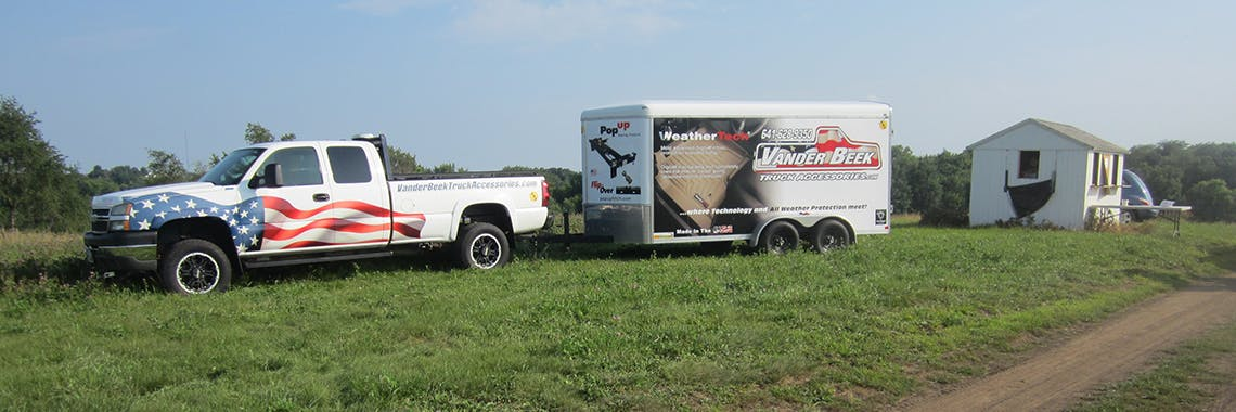 Truck and Trailer Banner