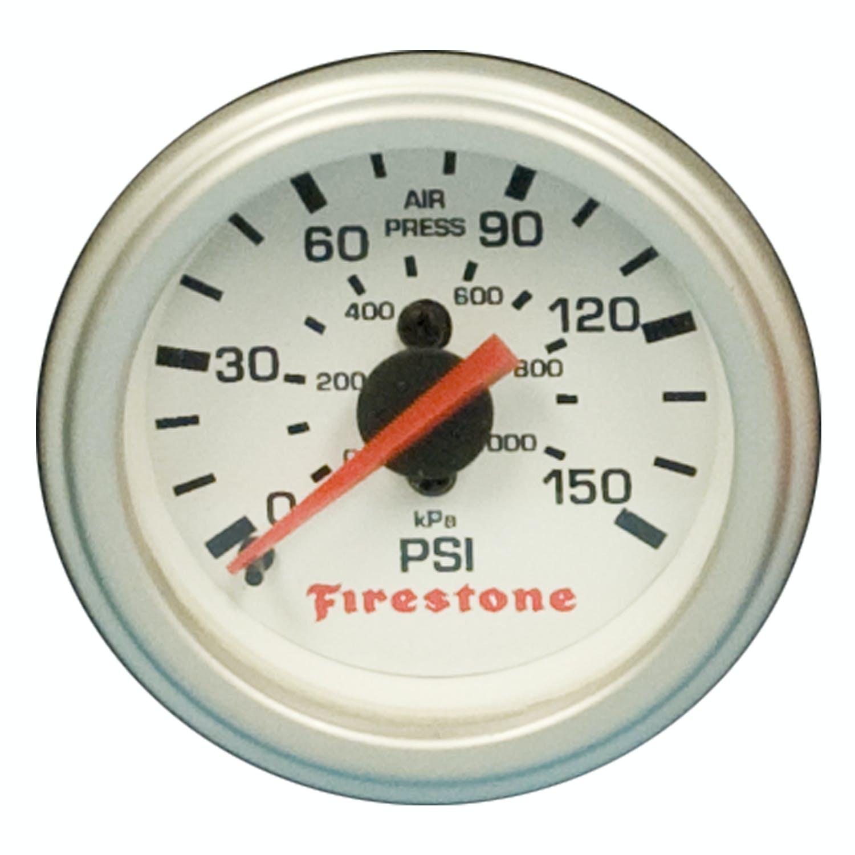 White Face Firestone 2574 Pneumatic Double Plastic Control Panel Gauge